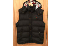 Jack Wills Down Waistcoat / Gilet / Vest - Black