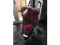 Petite star Zia 3 wheeler pushchair in pink