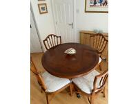Walnut Extendable Dining Table and Chairs