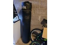 Punch Bag with Wall Bracket Pullup Bar