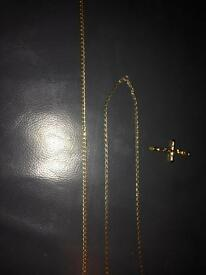 18 and 16 inch gold chains