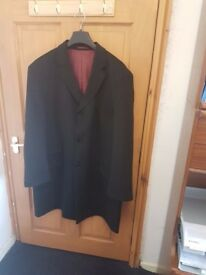 Mens Black Dress Coat - Size 56