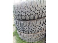 "35"" Maxxis bighorn mud terrain tyres landrover 4x4 offroad"