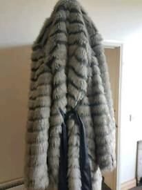 Fur coat size 18