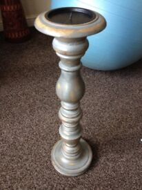 Wooden Candle Stand Antique Decorative Oriental