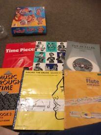 £20.00 ono6 flute books including grade books
