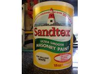Sandtex Masonry Paint.