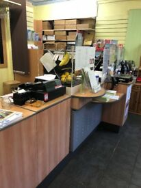 Post office retail counter unit