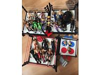 Wwe wrestling rings and figures