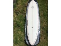 """7'4"""" Water Cooled Mini Mal with flower motif and purple pinstripe"""