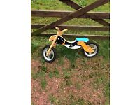Kids wooden bird bike