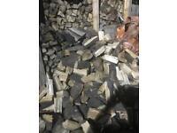 Split seasoned logs