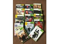 Xbox 360 with games and three controllers