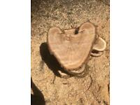 Wood slice, log slice, natural heart shape, wedding centre piece, rustic