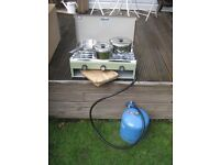 CAMPING STOVE WITH GAS & ACCESSORIES - NEW