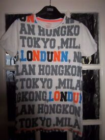 Boys M&S Lon Dunn Words T Shirt Age 11-12 Years IP1