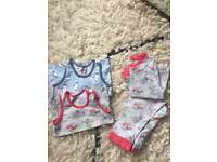 Cath Kidston Vests and Pyjama Bundle, Age 2-3, Excellent Condition