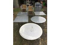 Commercial table and chairs