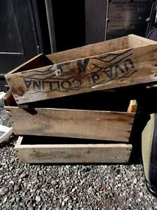 3 ANTIQUE WOOD BOXES FOR RUSTIC FLOWER PLANTING - Printed Advertising; Oakville 905 510-8720