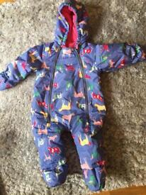 Joules pramsuit 6-9 months