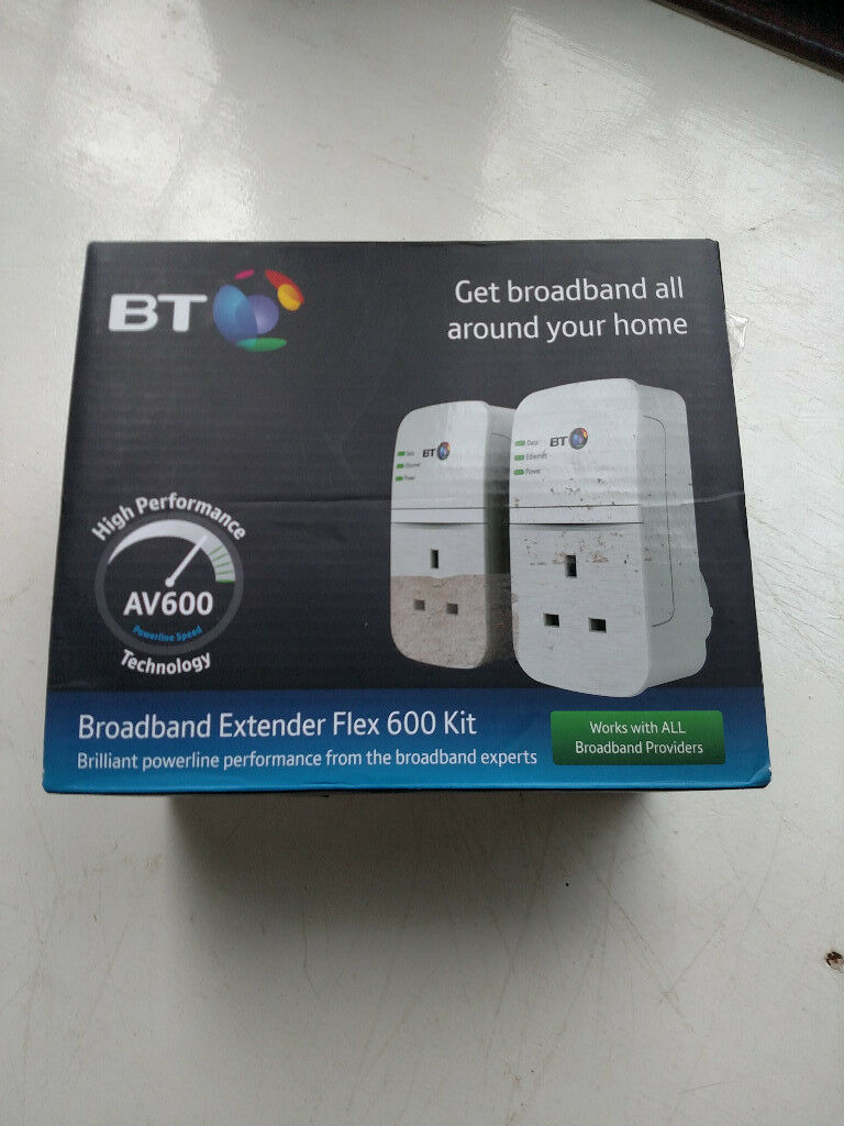 Bt Broadband Extender Kit Flex 600 In Markfield Leicestershire Powerline Modem