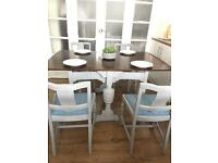 VINTAGE DINNING SET FREE DELIVERY LDN🇬🇧SHABBY CHIC TABLE