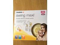 MEDELA SWING MAXI BREAST PUMP WITH CALMA TEATS AND SPARE STORAGE BOTTLES