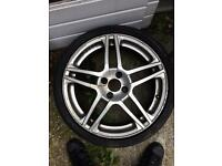 Set of five alloy wheels 17 inch