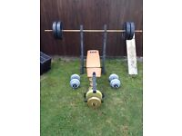 Weightlifting Bench With Weights