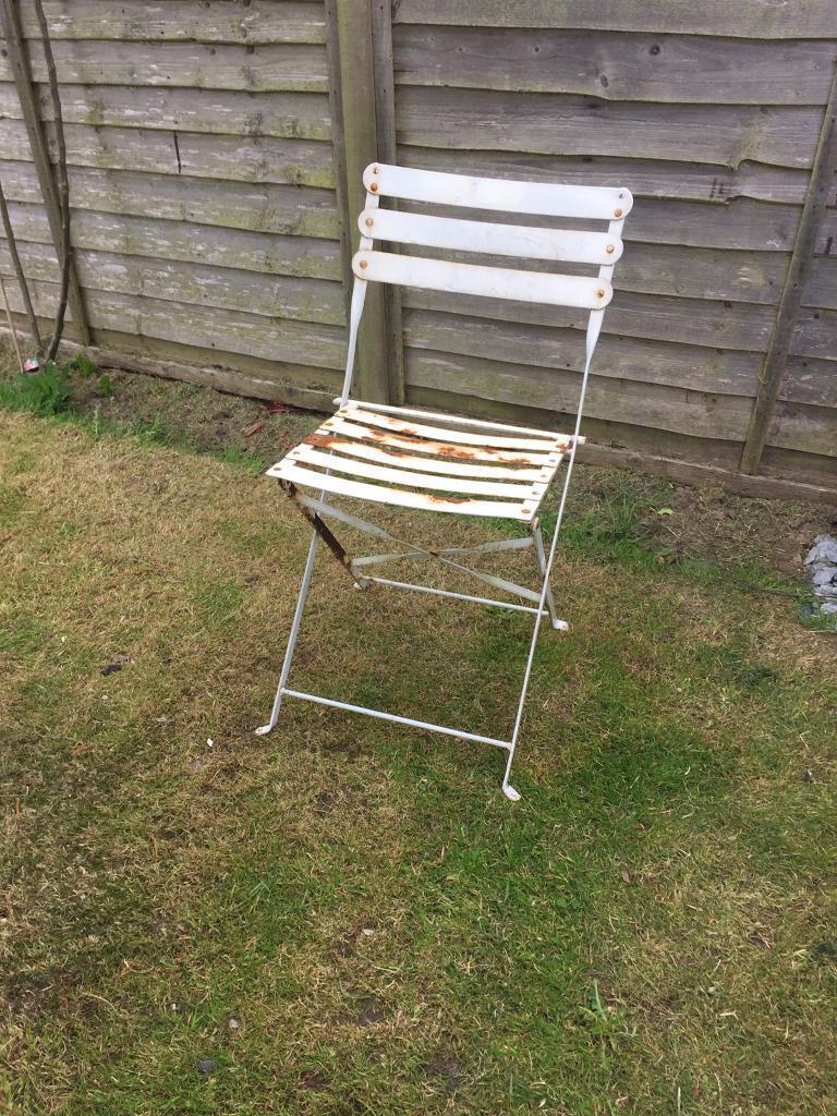 Vintage metal garden chair york