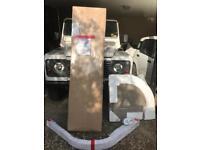 Optima quadrant 800mm plain glass chrome frame standing shower