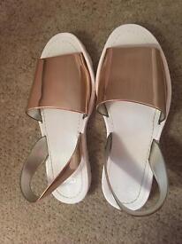 ASOS Rosegold Flats/sandals