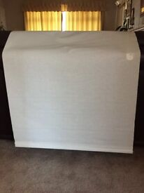 Light weight white roller blinds, pair of