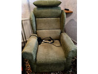 Riser/Recliner electric armchairs with matching non riser/recliner settee