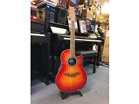 Ovation 12 string guitar cherry sunburst (model CC045) Like New
