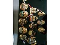 Solid brass masks