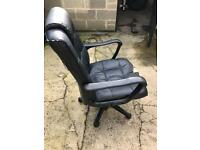 Leather black computer chair for sale