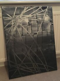 Abstract grey painting
