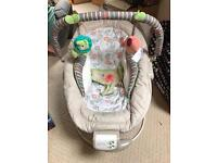 Comfort and harmony vibrating and musical bouncer