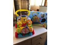 Vetch Winnie the Pooh 2 in 1 activity baby walker