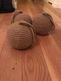 Jute rope doorstops