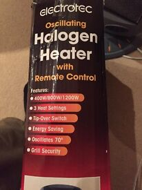 Halogen Heater with remote control and oscillating function