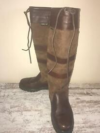 Dubarry Galway Boots in Walnut uk size 3 VGC