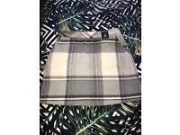 Pale Blue and Grey Tartan Skirt
