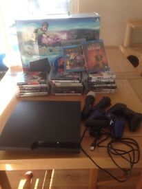 PS3 console plus 20 games