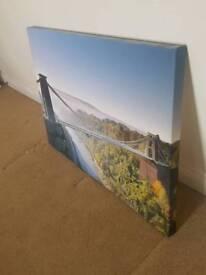 Suspension bridge wall canvas