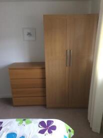 Wardrobe and drawers ikea
