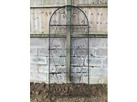 Garden gate wrought iron metal with fixings