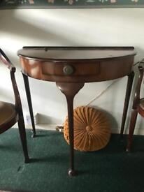Vintage mahogany hall/console/telephone table