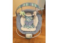 Blue baby bouncer seat